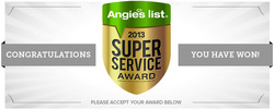 2013 Pool Fence Tampa award from Angies list
