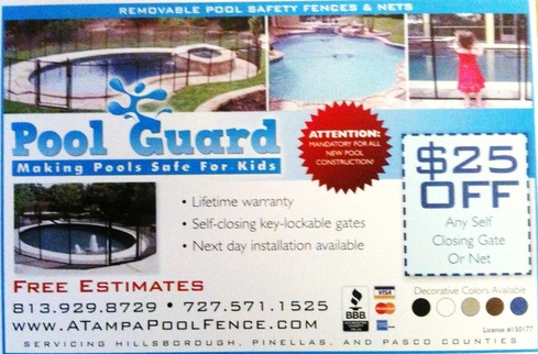 Tampa pool fencing coupon and discount page